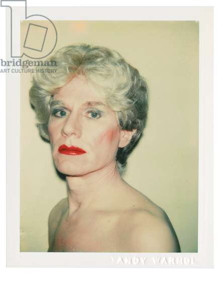 Self-Portrait in Drag, 1981-82 (polaroid print)