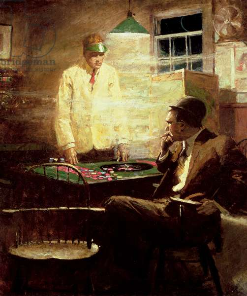 The Gambler (oil on canvas)