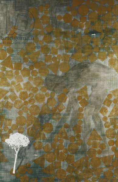 Answer, 1988 (oil and graphite on canvas)