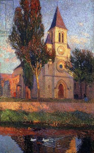 The Church at Labastide du Vert; L'Eglisede la bastide du Vert,  (oil on canvas)