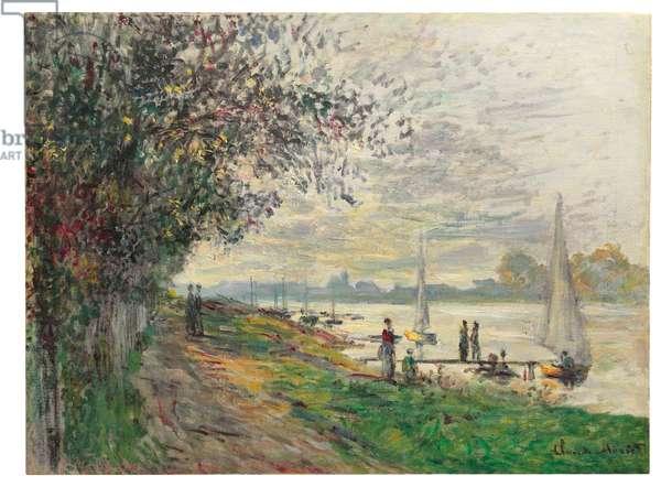 La berge du Petit-Gennevilliers, soleil couchant, 1875 (oil on canvas)
