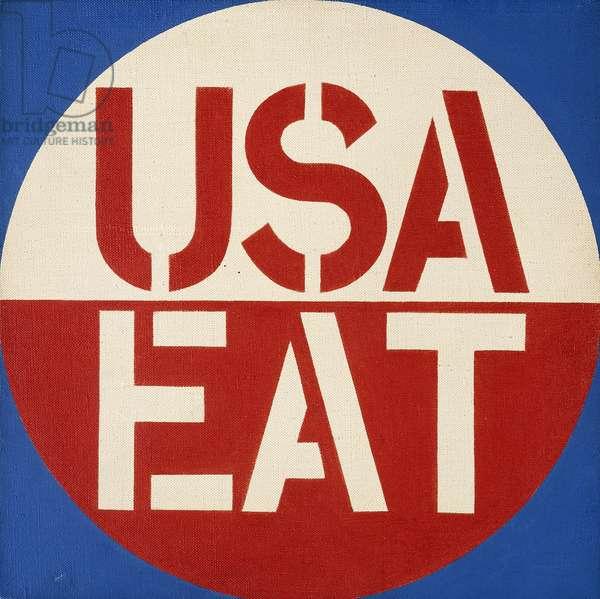 USA EAT, 1965 (acrylic on canvas)
