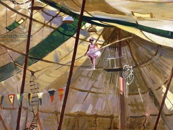 Circus Tightrope Walker, 1933 (oil on panel)