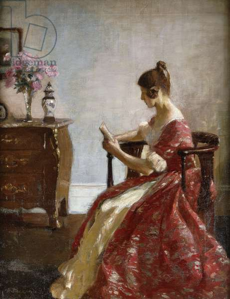 Girl Reading, 1916 (oil on canvas)