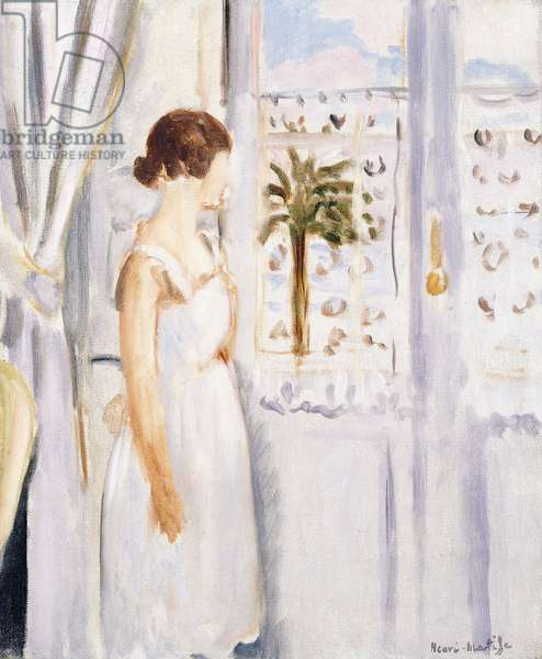 Young girl at the Window, 1921 (oil on canvas)