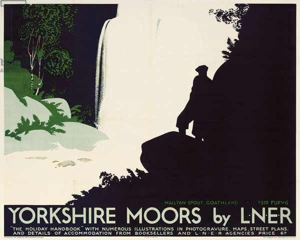 A poster advertising travel to the Yorkshire Moors by London & North Eastern Railway (colour lithograph)
