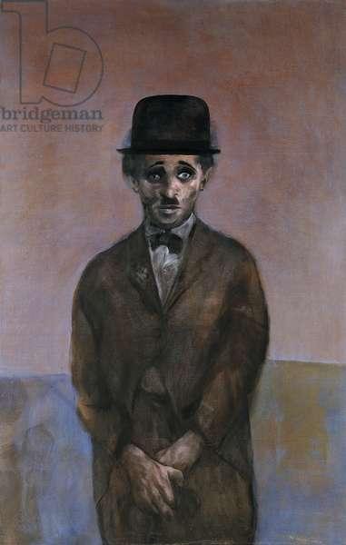 Charlie Chaplin, 1968 (acrylic on linen)