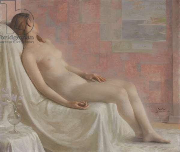 Resting Nude (oil on canvas)