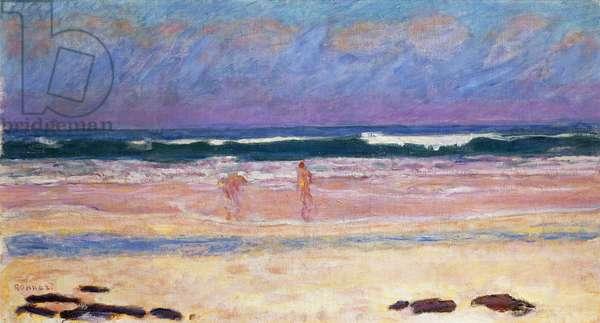 Beach; Plage,  (oil on canvas)