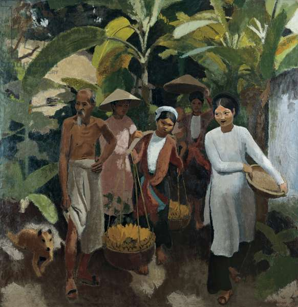 The Return from the Market, 1933 (oil on canvas)