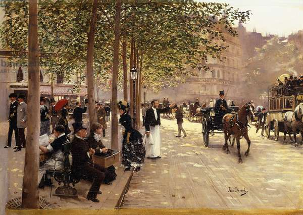 A Paris Street; Une Avenue Parisienne, c.1880 (oil on canvas)