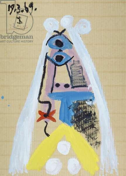 The Bride, 1969 (gouache & oil on corrugated board)
