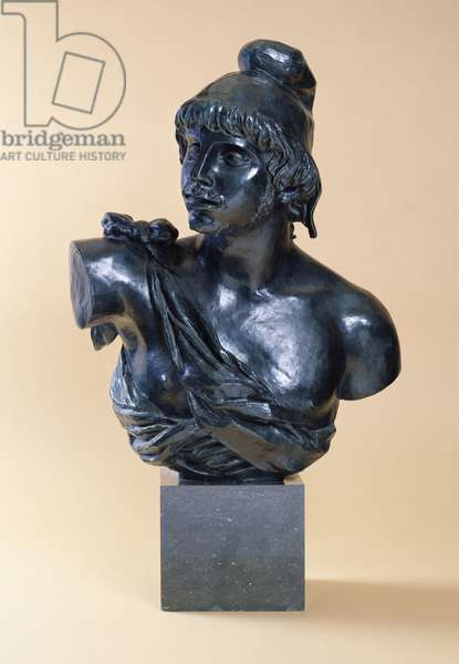 Bust of Paris with a Beard, 1915 (bronze with greenish-black patina)