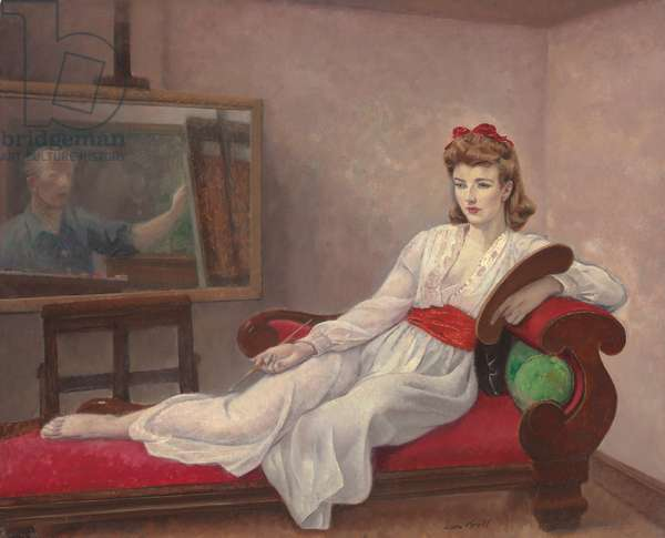 Iona Robinson and Self Portrait of Kroll, 1943 (oil on canvas laid down on board)
