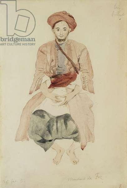 Merchant of Fez, c.1832 (watercolour over pencil on paper)