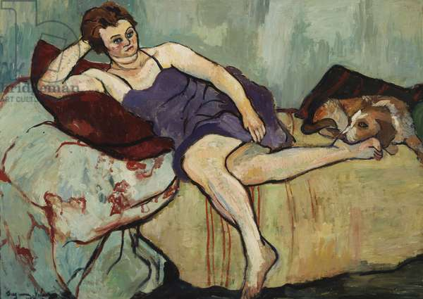 Marie Coca with Arbi, 1927 (oil on canvas)
