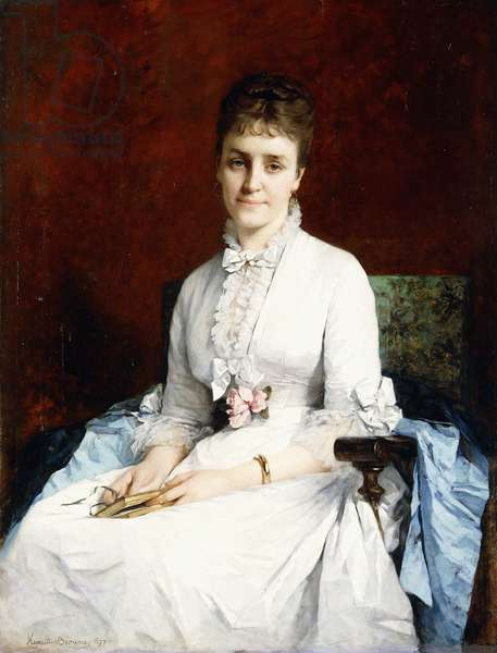 Portrait of a Lady, 1877 (oil on canvas)