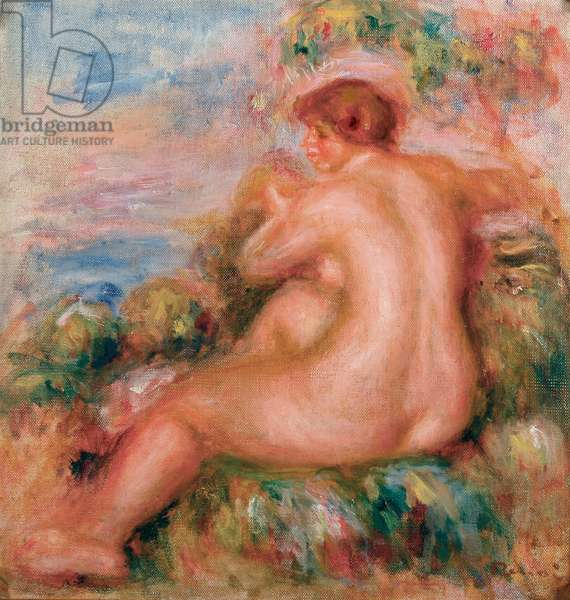 Female Nude in a Landscape, 1915 (oil on canvas)