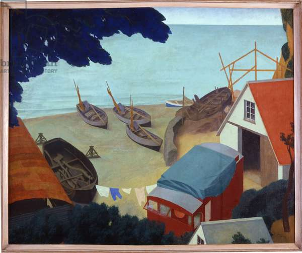 The Boatyard, 1935 (oil on canvas)