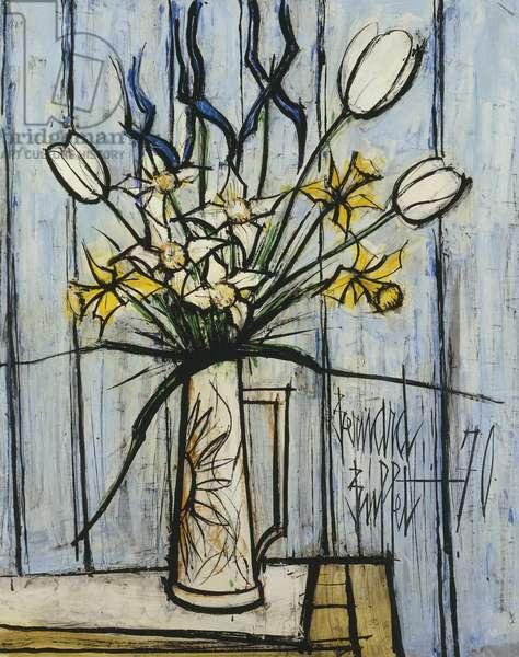 Vase de Fleurs, 1970 (oil on board)