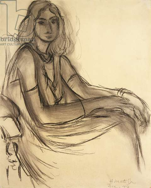 Portrait of a Woman, 1944 (charcoal on paper)