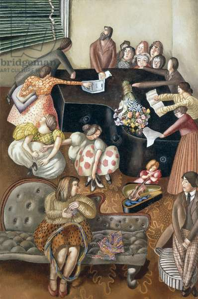 At the Piano, 1957 (oil on canvas)