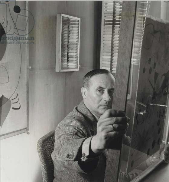Joan Miro, 1947 (gelatin silver print)