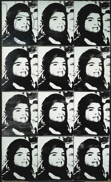 12 Jackies, 1965 (silkscreen ink & synthetic polymer on canvas)