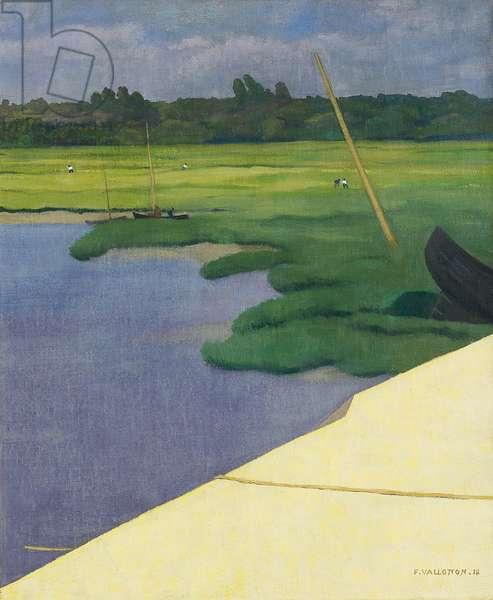 Quai de Berville, 1918 (oil on canvas)