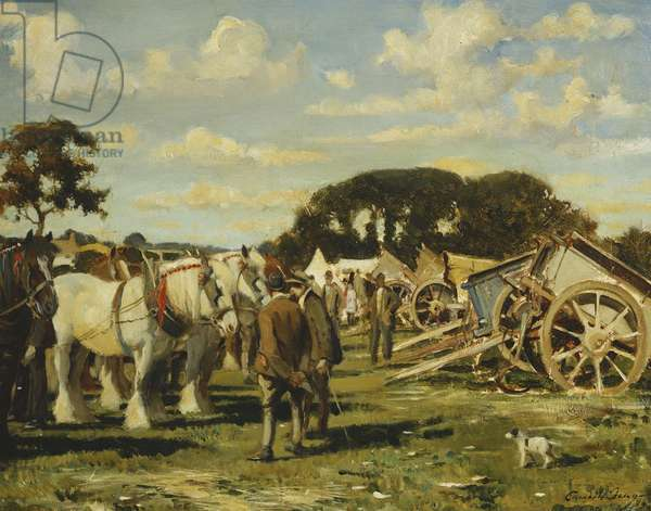 Farm Auction, 1936 (oil on canvas)