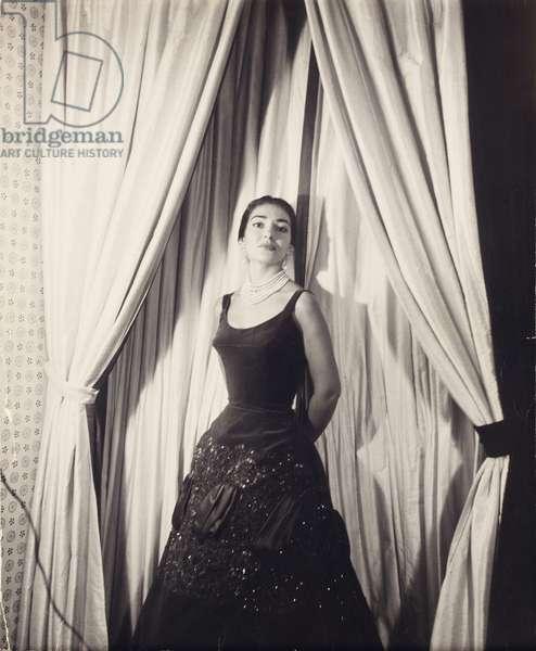 Maria Callas (gelatin silver print)