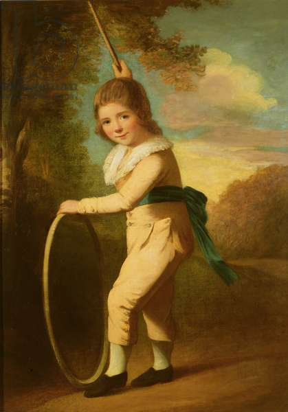 Portrait of Master William Morgan with a hoop and stick (oil on canvas)