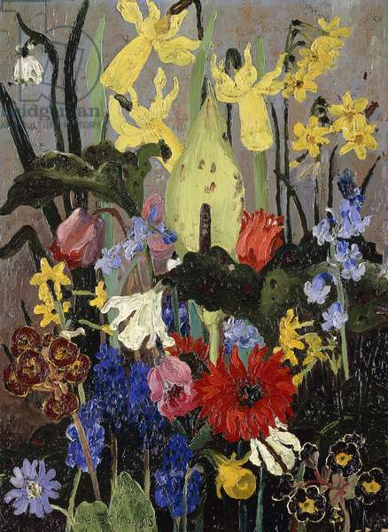 Spring Flowers, 1931 (oil on canvas)