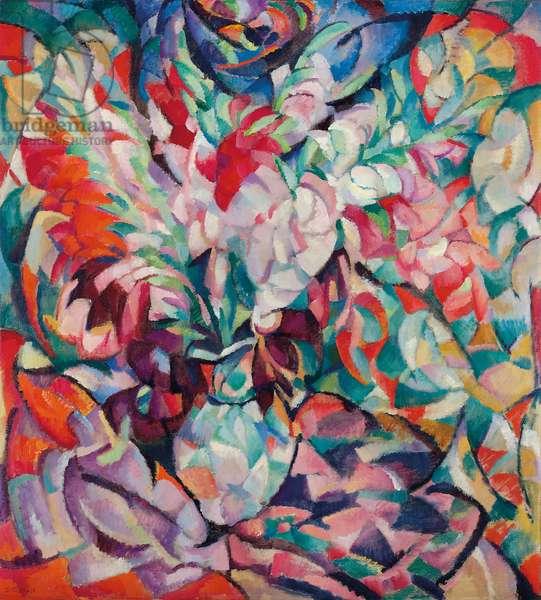Gladiolus; Gladiolen, 1913 (oil on canvas)