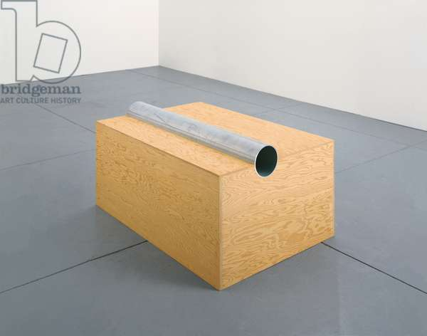 Untitled (91-9 Ballantine), 1991 (douglas fir pinewood & aluminium tube)