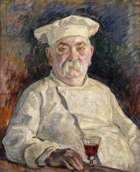 Chef; Le Cuisinier, (oil on canvas)