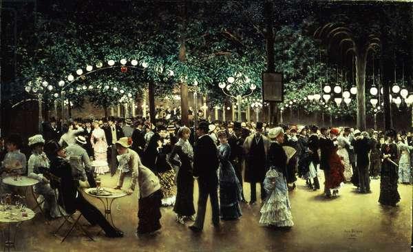 Le Bal Public, 1880 (oil on canvas)