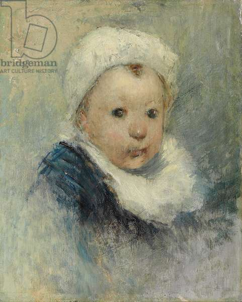 Portrait of a child, possibly Aline Gauguin, c.1878 (oil on panel)