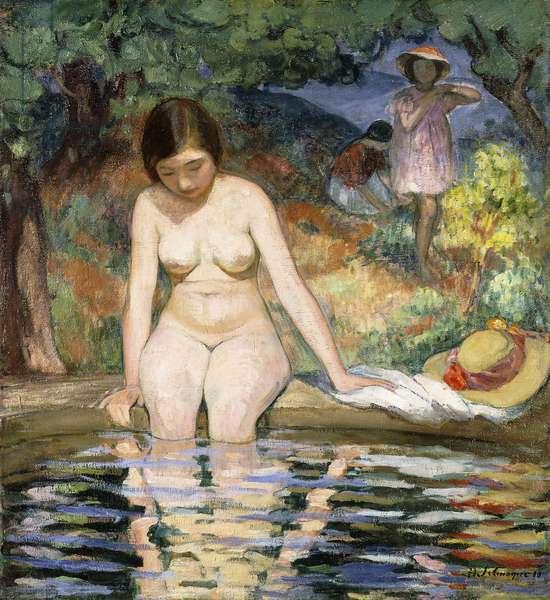 Bather; Baigneuse, 1910 (oil on canvas)