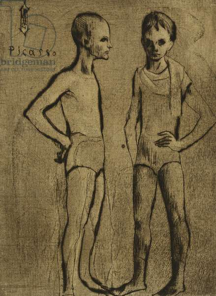 Two Tumblers; Les Deux Saltimbanques, 1905 (drypoint on Arches)