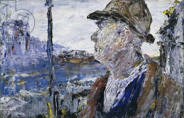 Martin, (oil on panel)