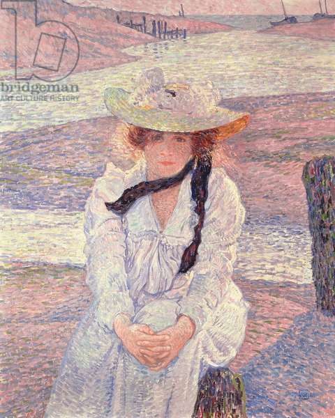 Young Woman on the Banks of the Greve River, 1901 (oil on canvas)