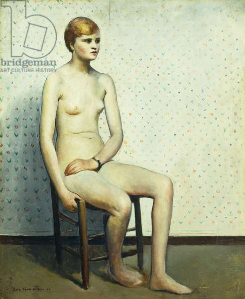 Seated Model, 1926 (oil on panel)