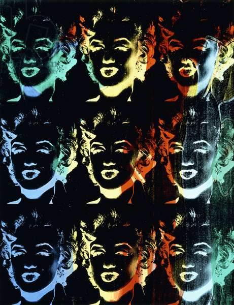 Marilyn (Reversal Series), 1986 (silkscreen ink and synthetic polymer on canvas)