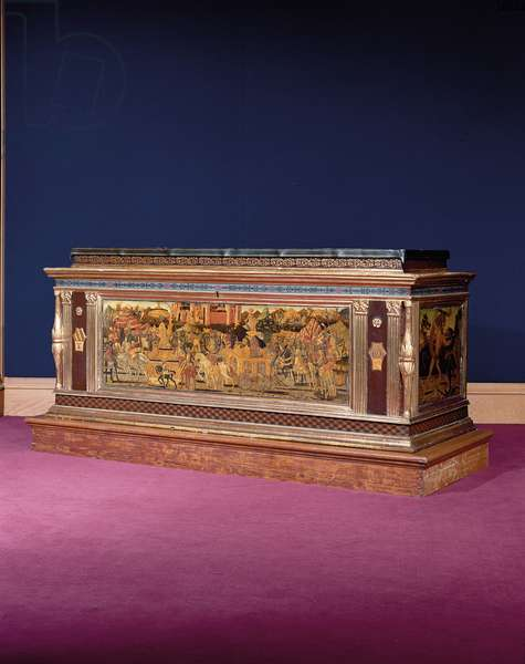 Cassone (tempera on wood & parcel-gilt wood) (see also 1113941-4)