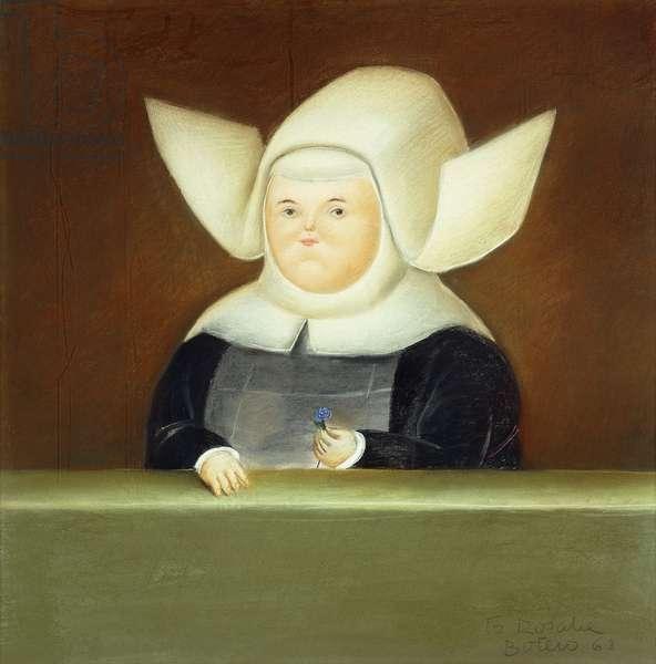 Mother Superior in the Window; Madre Superiora en la Ventana, 1968 (pastel on board)