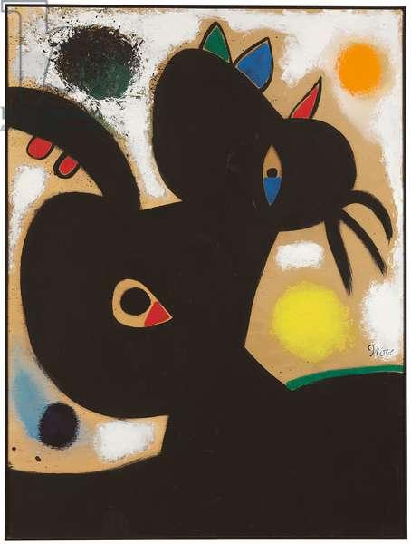 Head of a Woman; Tete de femme, 1976 (oil on panel)