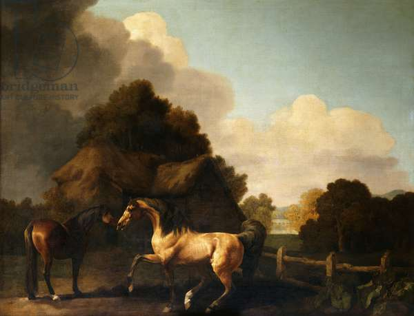 Stallion and Mare, traditionally called 'Jupiter and Mare' (oil on canvas)