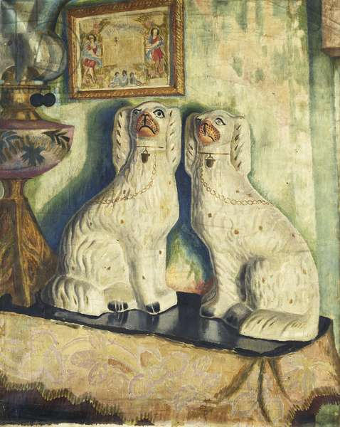 Staffordshire Dogs, c. 1928 (oil on canvas)