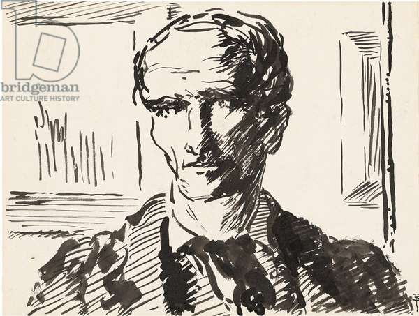 Self-Portrait, c.1927 (pen & ink on paper)